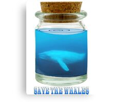 Save the Whales Canvas Print