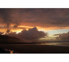Sunset over Westward Ho! Photographic Print