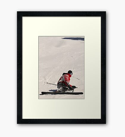 "Contemplation (""What the heck happened there?"") Framed Print"