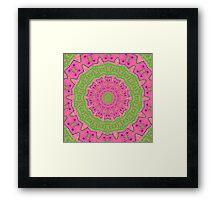 Pink and Green Kaleidoscope Framed Print