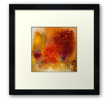 Frenzy. 30 x 30. Acrylic Painting. Framed Print