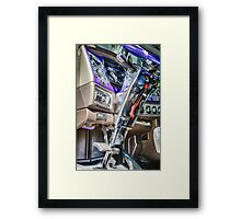 BIG RIG INTERIOR Framed Print