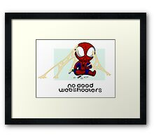 No good Webshooters Framed Print
