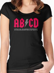 Abcd Parody Women's Fitted Scoop T-Shirt