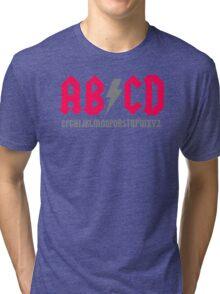 Abcd Parody Tri-blend T-Shirt