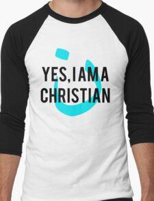 Yes, I am a  Christian Nun Symbol Men's Baseball ¾ T-Shirt
