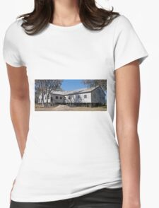 Callandoon Shearing Shed,  Qld. Australia (panorama) Womens Fitted T-Shirt