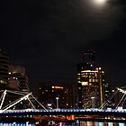 Melbourne - city lights reflections by paxamour