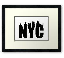 NYC-Skyline Framed Print