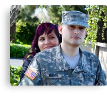 A Soldier and His Wife Canvas Print
