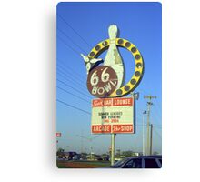 Route 66 Bowl Canvas Print