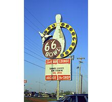 Route 66 Bowl Photographic Print