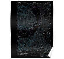 USGS Topo Map Oregon Salem West 20110914 TM Inverted Poster