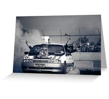 H8TRED Tread Cemetery Burnout Greeting Card