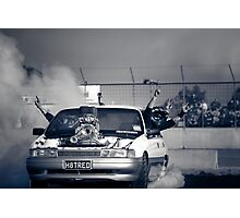 H8TRED Tread Cemetery Burnout Photographic Print