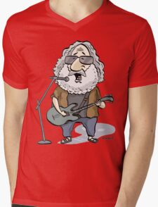 Jerry Garcia Mens V-Neck T-Shirt