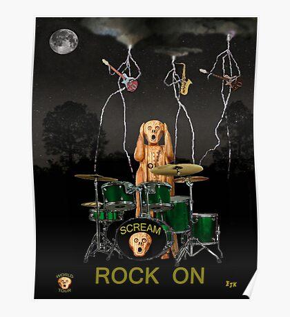Scream Rock Band Poster