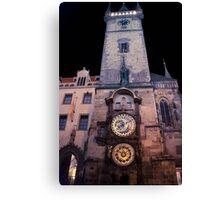 Astro Clock Canvas Print
