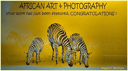 AFRICAN ART FEATURE BANNER by Magaret Meintjes