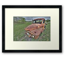 Old Truck - South Texas Framed Print