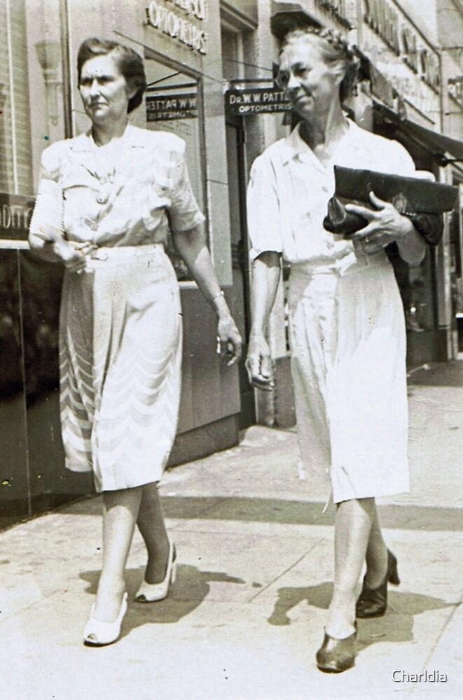 Downtown BroadStreet Gadsden, AL 1940 by Charldia