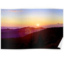 Blue Ridge Sunset Poster