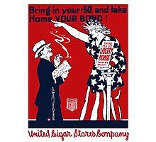 Lady Liberty War Bonds - WWI Photographic Print