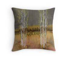 2 Birch Groves Throw Pillow