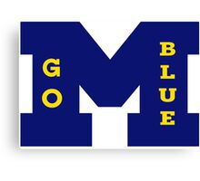 M Go BLUE! Canvas Print