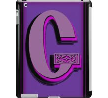 The Alphabet  The letter G iPad Case/Skin