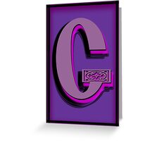 The Alphabet  The letter G Greeting Card