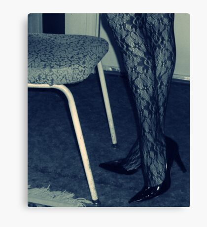 Uninspired, So Here's Some Legs and a Chair Canvas Print