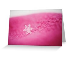 Delicate - The Solitary Macro Snowflake Greeting Card