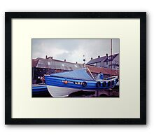 Coble at Craster 1980s Framed Print