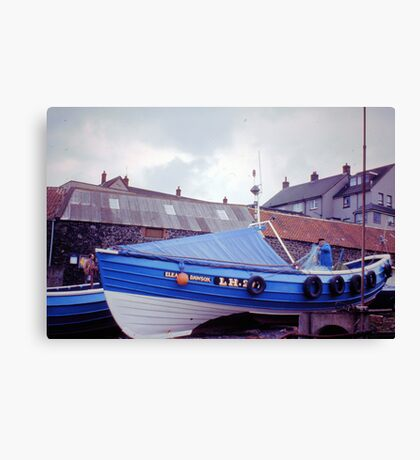Coble at Craster 1980s Canvas Print
