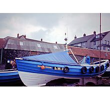 Coble at Craster 1980s Photographic Print
