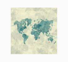 World Map Map Blue Vintage Unisex T-Shirt