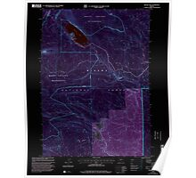 USGS Topo Map Oregon Miller Lake 280743 1999 24000 Inverted Poster