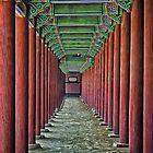 Courtyard Colonnade by TonyCrehan