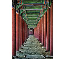 Courtyard Colonnade Photographic Print