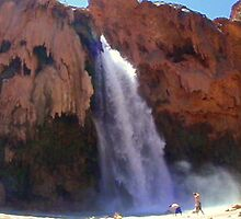 Havasu Falls Panoramic by BoddyHiker