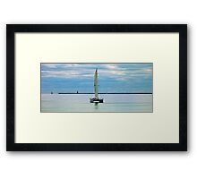 Peace on the water Framed Print