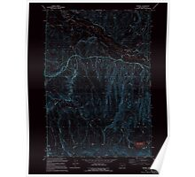 USGS Topo Map Oregon Keating 280377 1994 24000 Inverted Poster
