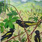 Caciques and Cecropia, Nayarit, Mexico by Lynda Earley