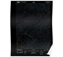 USGS Topo Map Oregon Nonpareil 20110824 TM Inverted Poster