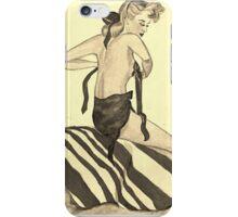 50's beach babe iPhone Case/Skin