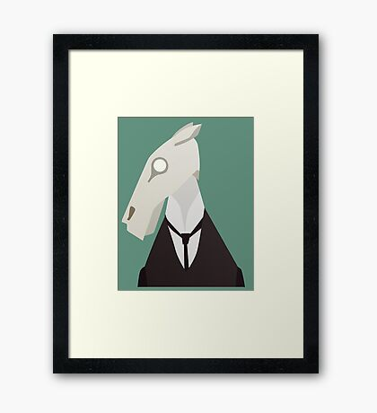 Brook Horse Framed Print