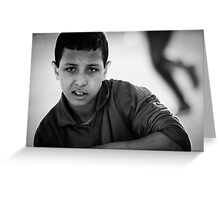 Moroccan Child Greeting Card