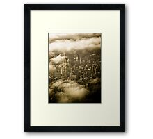 Empire State Building in Clouds Framed Print