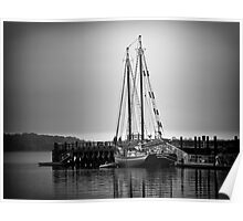 Sailboat at New Haven Pier Poster